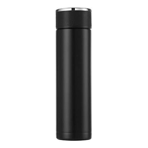 KCGNBQING Botella de Termo 500 ml Frascos de vacío LED Pantalla de Temperatura Digital Pantalla de Acero Inoxidable Aislamiento Tazas Termo Inteligentes Taza de Moda Creativa