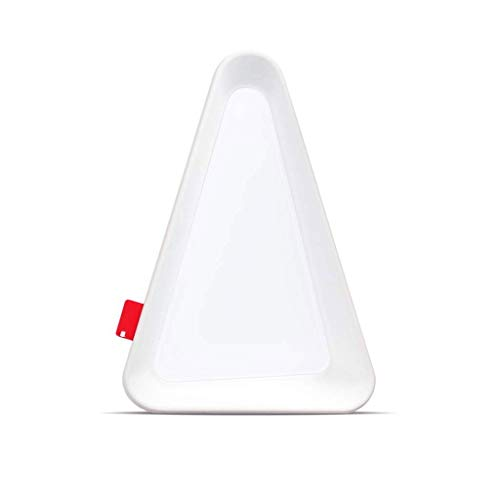 LED Battery Powered Night Light Creative Flip Lamp Triangle Night Light Gravity Induction Lamp for Closets, Attics, Garages, Car, Sheds, Storage Room (Color : White)