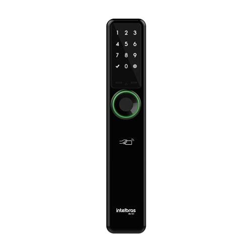 fechadura digital de embutir sem maçaneta intelbras FR 701 Preto Média