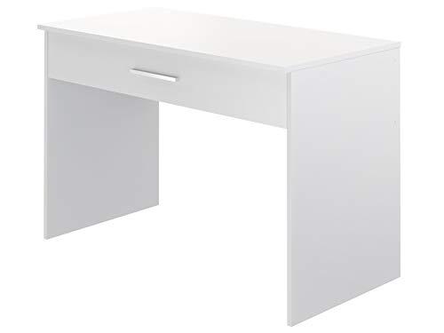 Marca Amazon -Movian Indre Modern - Escritorio con 1 cajón, 56 x 110 x 73 cm (blanco)