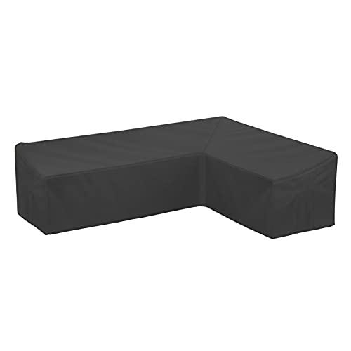 Sofa Funda para Muebles de Jardín, Cowhilan Funda en Forma de L para Muebles, Impermeable Funda Sofa para Exterior(270x270x90cm)