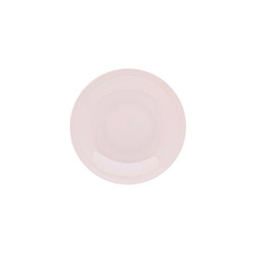 DEGRENNE - Modulo Color lot de 6 assiettes creuse calotte ronde 20 cm, porcelaine - Rose poudré