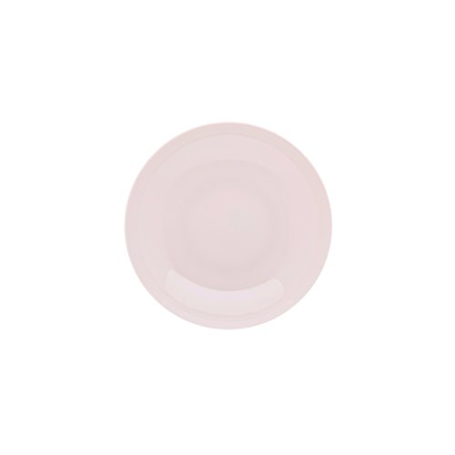 DEGRENNE - Modulo Color lot de 6 assiettes creuse calotte ronde 20 cm, porcelaine - Rose poudré