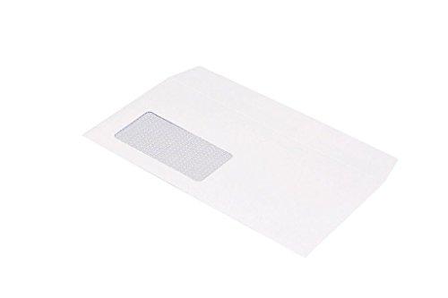 TopStar Briefumschlag Din Lang (110x220mm) haftklebend mit Fenster weiß 100g  250 Stück