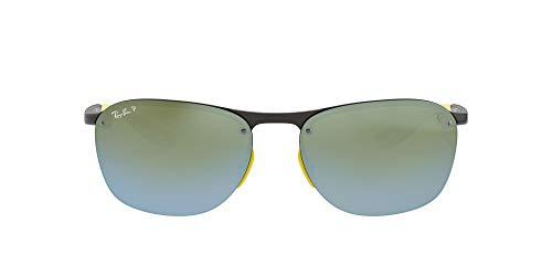 Rayban 0RB4302M F624H1 62 Montures de lunettes, Gris (Grey/Greenmirsilverpolar), Homme