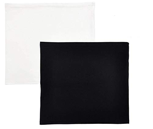 CREATPRET Shirt Extender for Women Plus Size Skirt Extenders Band White and Black 2 Pieces (XXL)