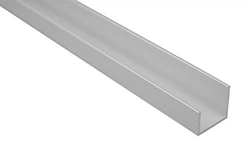 2 Meter | U-Profil | Alu | eloxiert | Effector | 19x18mm | B31 | silber
