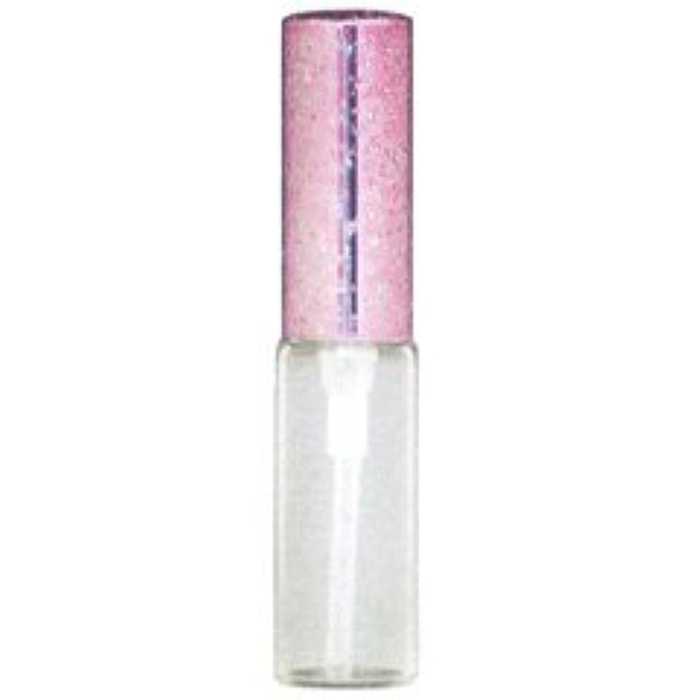 ラメ アルミキャップ ガラス アトマイザー 56187 (ラメCAP 4ML ピンク) 4ml 【ヒロセ アトマイザー】