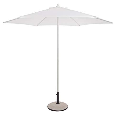 PEGANE Parasol centré Blanc en Acier - Dim : Ø 270 x H 240 cm