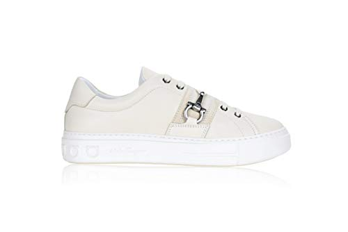 Ferragamo Sultan M - Zapatos de mujer para mujer Blanco Size: 38 EU