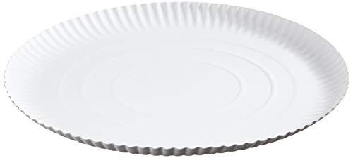 García de Pou Platos Relieve Pastelería, Diámetro 32 cm, Set de 50, Blanco, cartón, 32 x 30 x 30 cm