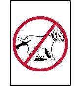 HSSS SignsWithAnAttitude Señal de aluminio para orinar al perro, 30,5 x 30,5 cm