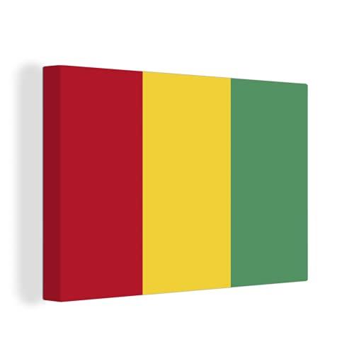 Leinwandbild - Flagge von Guinea - 120x90 cm