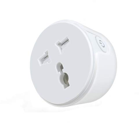 Hoteon Smart Outlet with Night Light, Dimmable Warm White, Separated Voice Remote Control Smart...