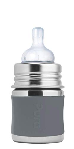 Find Discount Pura Kiki 5oz / 150ml Stainless Steel Anti-Colic Infant Bottle with Silicone Natural V...