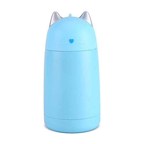 Taza de café con lindo gato EVTSCAN, taza aislada al vacío de acero inoxidable de 330 ML, taza de viaje con botella de agua de dibujos animados de gato lindo