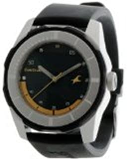 Fastrack Men`s Green Dial Polyurethane Band Watch 3099SP06