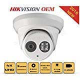 4K PoE Security IP Camera - Compatible with Hikvision DS-2CD2385FWD-I UltraHD 8MP Turret Onvif IR Night Vision Weatherproof WideAngle 2.8mmLens Best for Home and Business Security, 3 Year Warranty