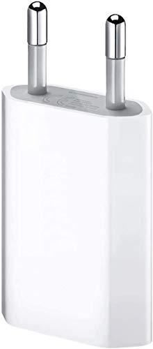 ultrapower100 Cargador de batería para iPhone UP10002 Compatible con iPhone 4 4S 5 5C 5S 6 SE 6S 7 8 X XS XR XS Max - Nuevo enchufe de pared Cargador de fuente de alimentación 1A 5W A1400 EU