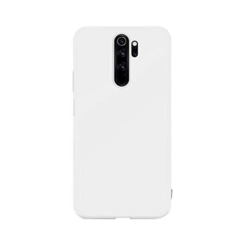 cuzz Funda para Xiaomi Redmi Note 8 Pro+{Protector de Pantalla de Vidrio Templado} Carcasa Silicona Suave Gel Rasguño y Resistente Teléfono Móvil Cover-Blanco