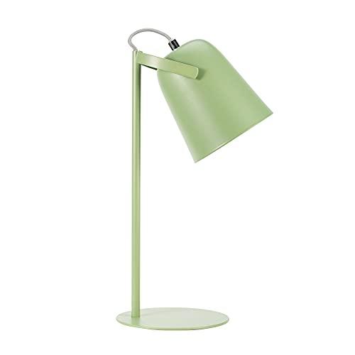 Pauleen 48096 luminaria True Pistachio máx. 20W E14, Escritorio, lámpara de sobremesa 230V Metal, Verde satinado