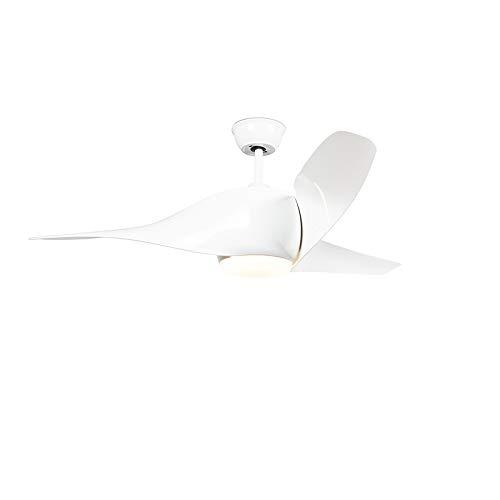 QAZQA Moderno Ventilador blanco LED mando-a-distancia - SIROCCO 50 Plástico/Acero Redonda Incluye LED Max. 1 x 18 Watt