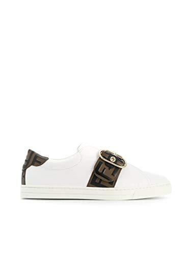 FENDI Luxury Fashion Damen 8E6734A83JF17M7 Weiss Slip On Sneakers | Herbst Winter 19