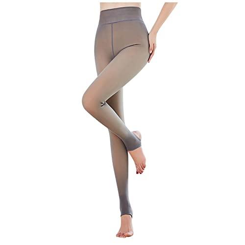 Pantis de mujer sin imperfecciones, transparentes, cálidos, térmicos, elásticos, forrados, cálidos, de forro polar