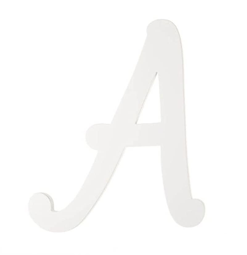 Darice 9188-A White Wood Letters, A, 9-Inch
