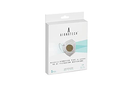 Mascarilla Higiénica Plus Beige - Interior Negro - Protección Bidireccional - 5 Unidades - Fabricada en España - Homologada y Certificada por AENOR y AITEX - Reutilizable hasta 20 lavados
