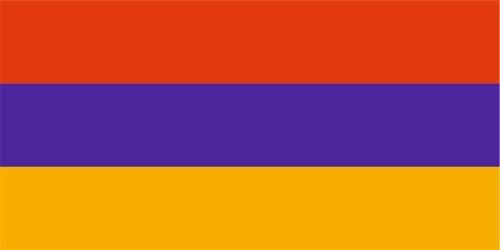 Kiwistar Autoaufkleber Sticker Fahne Flagge Aufkleber 10cm Armenien laminiert sehr Lange Haltbar