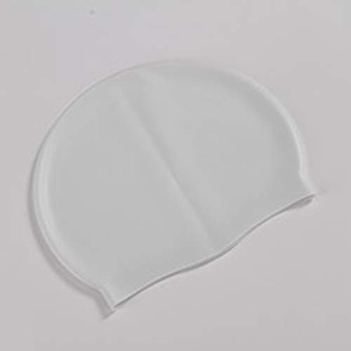 Gorros de natación Impermeables de Silicona Suave Protegen Las Orejas Cabello Largo Deportes Natación Sombrero de Piscina Gorro de baño para Hombres y Mujeres Adultos (Amarillo) ESjasnyfall