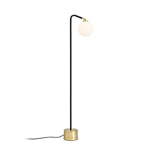DSM Lámpara de pie Metal Bola de Cristal Estudio Dormitorio Sala de Estar Lámpara Vertical cálida 155 cm