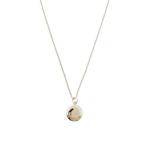 HONEYCAT Keepsake Mini Locket Necklace in 18k Gold Plate   Minimalist, Delicate Jewelry (G)