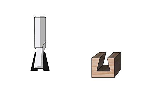 FAMAG Zinken- und Gratfräser HM 25,4 x 22,2 x 44,5mm, 14° Winkel, Schaft 12mm - 3104.925
