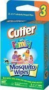 Cutter All Family 6x7 in DEET Mosquito Wipes Convenience Pack, 2 packs of 3 count by Cutter Mosquitto Wipes