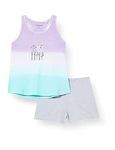 Schiesser Mädchen Schlafanzug kurz Pyjamaset, Flieder, 164