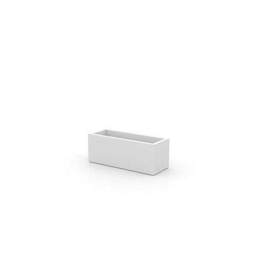 Vondom 41630 Jardinera Universal, Blanco, 30x30x80 cm