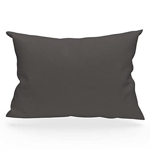 Soleil d'Ocre 554826 - Funda de almohada de algodón, color gris, talla 50 x 75 cm
