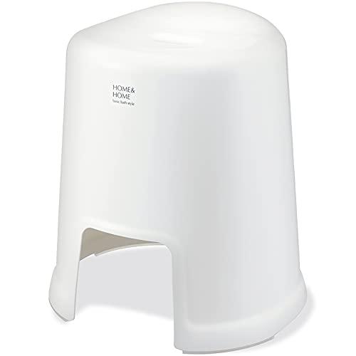 リス風呂椅子H&Hホワイト高さ40cm『防カビ加工』日本製