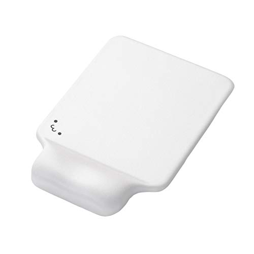 ELECOM Mouse Pad with Face/Wrist Rest/Gel Type/Super Cute/Kawaii/Ergonomic/Anti Skid/Precise Control White MP-GELWH