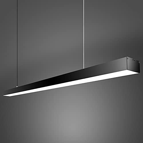 Lampada a Sospensione LED Illuminazione moderna per ufficio a sospensione da 24 W Regolabile in altezza Luce Bianca Calda F111V-240V Lungo 95 cm [Classe Energetica A+]