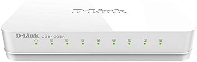 D-Link DGS-1008A 8-Port Gigabit Easy Desktop Switch (White)