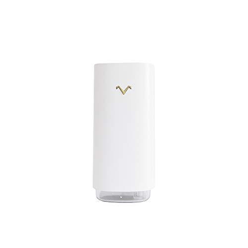CttiuliJSqi Ultrasonidos humidificador de Vapor frío portátil, humidificador de Aire Mini USB for Coche del Recorrido del hogar Oficina Dormitorio (320ml) (Color : White)