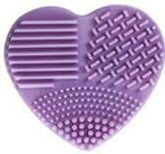 1PC Silicone Fashion Heart-Shaped Egg Cleaning Gloves Makeup Brush Laundry Brush Washing Tool Cleaner Cleaning Brush (Colo...