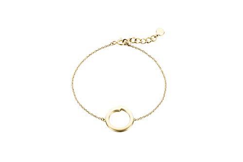 Pulsera Denmark de Obaku – de la colección de joyas Enso de plata de ley 925 – con cristales de Swarovski – materiales elegantes y de alta calidad con diseño escandinavo (oro)
