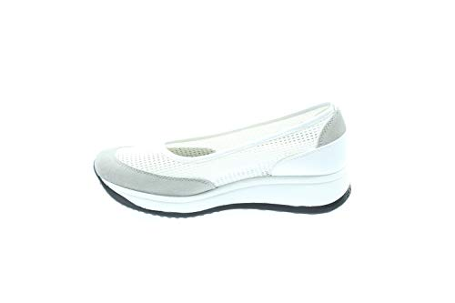 Agile By Rucoline 1317 Ballerines Femme Blanc 36