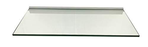 Regale4You Glasregal: 60x30 cm KlarGlas 10 mm mit Profil LINO10 komplett mit Befestigung / 1 Wandregal
