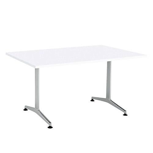 【配送・組立・設置込】 コクヨ ミーティングテーブル JUTO MT-JTT159S81MAW 角形天板 T字脚 幅150×奥行90cm 天板ホワイト/脚フラットシルバー アジャスタータイプ