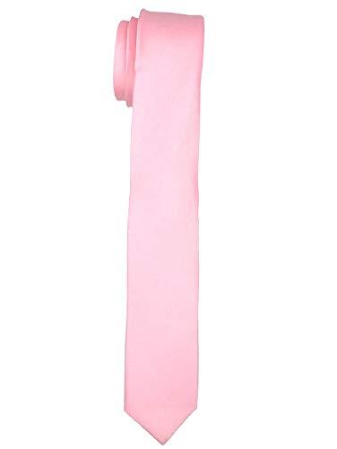 FashMade Men/Boy's Slim Skinny Baby Pink Tie Formal Casual Look Satin Tie